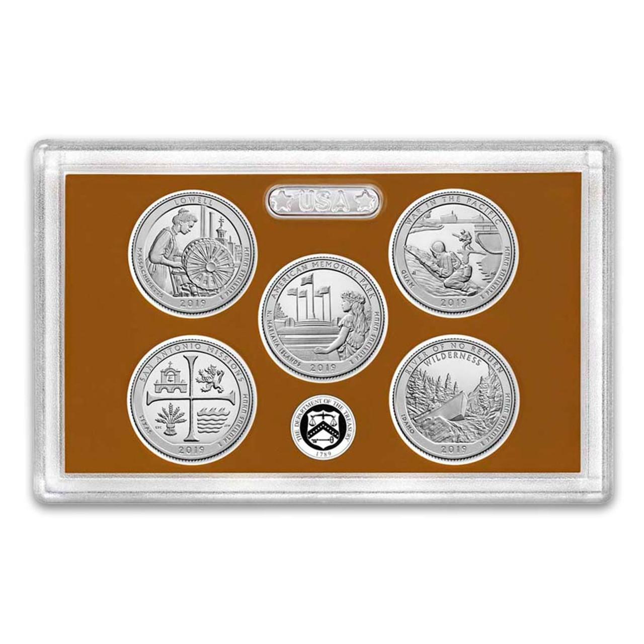 2019 National Parks Quarter Proof Set 5 Coins Image 1
