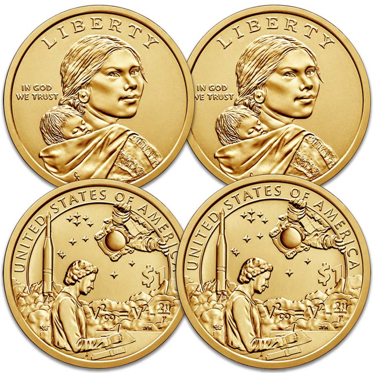 2019 P & D Native American Dollar Pair Brilliant Uncirculated Image 1