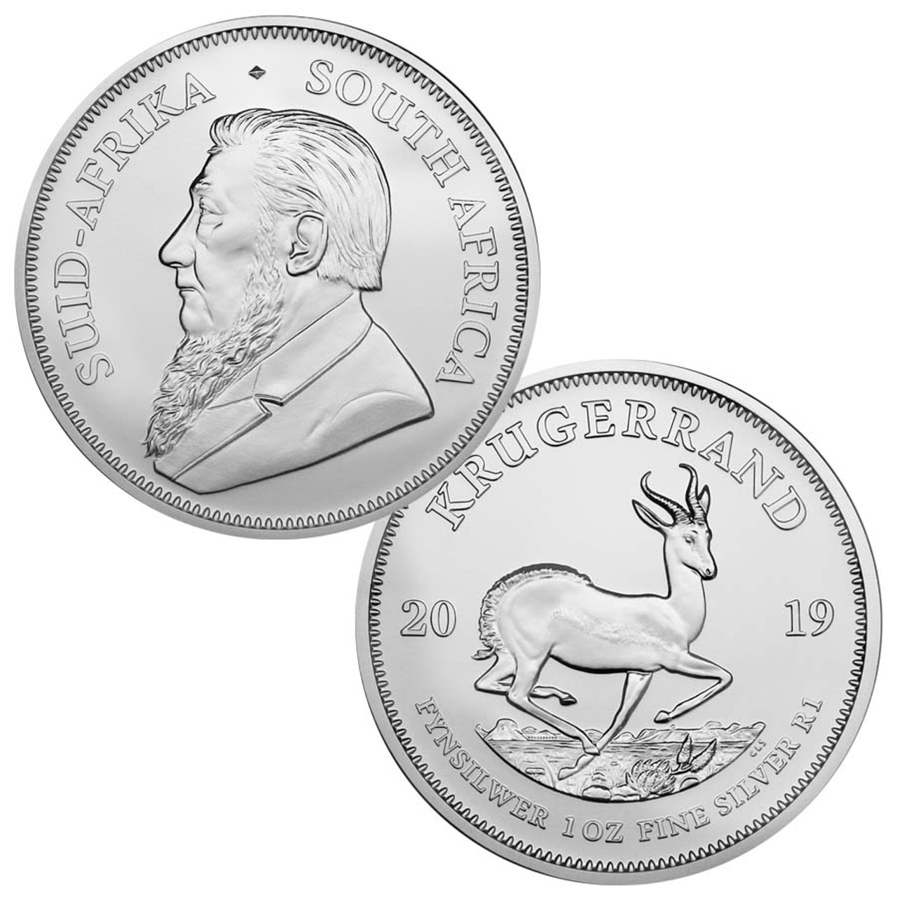 South Africa 2019 Krugerrand 1 Oz. Silver Brilliant Uncirculated