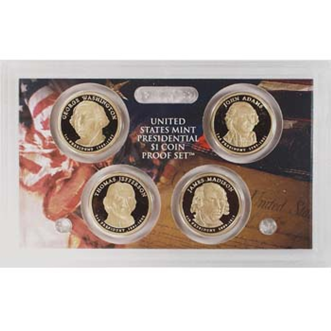 2007 Presidential Dollar Proof Set 4 Coin Image 1