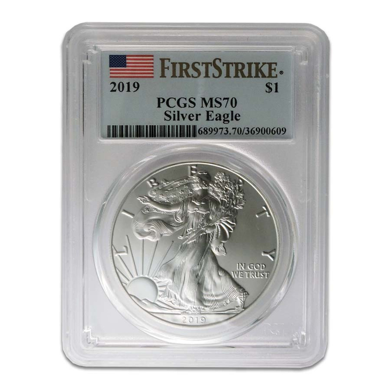 2019 Silver Eagle Certified MS-70 Image 1
