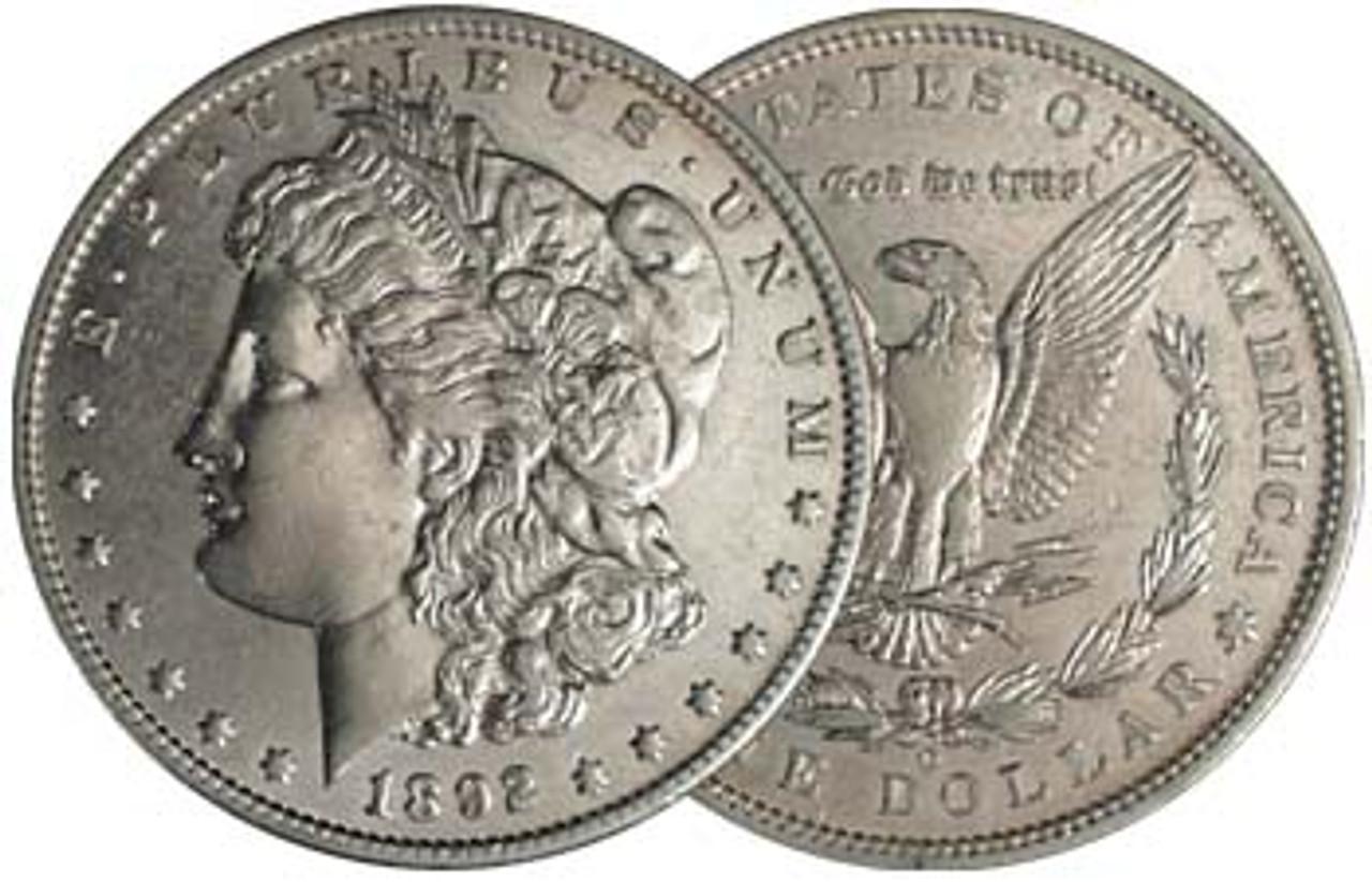 1892-O Morgan Silver Dollar About Uncirculated