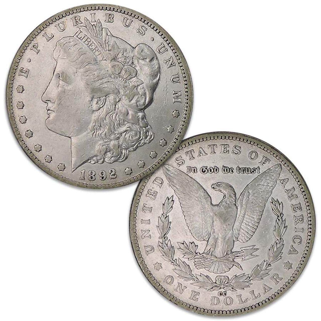 1892-CC Morgan Silver Dollar Extra Fine