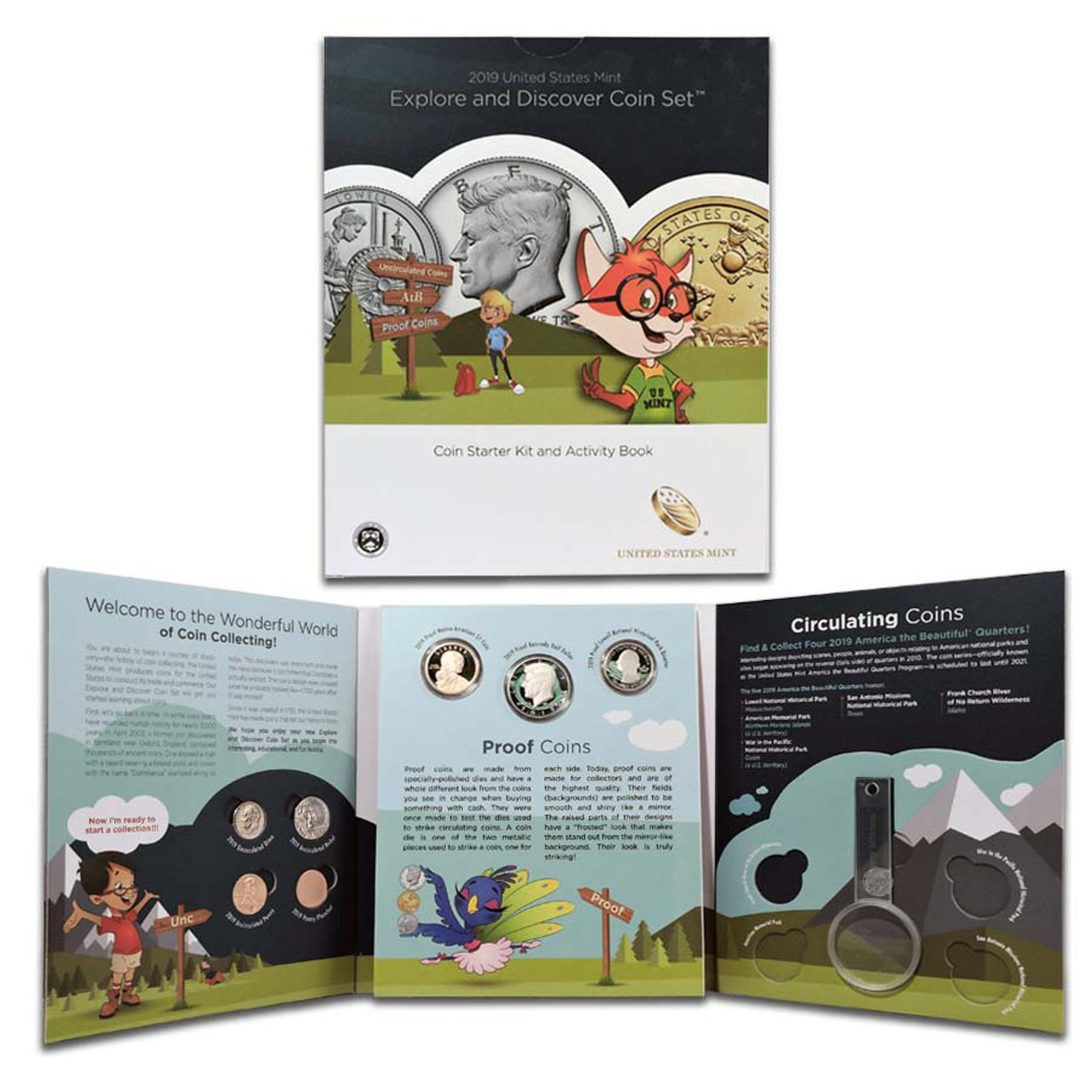 2019 Kids Explore and Discover 6 Coin Set Image 1