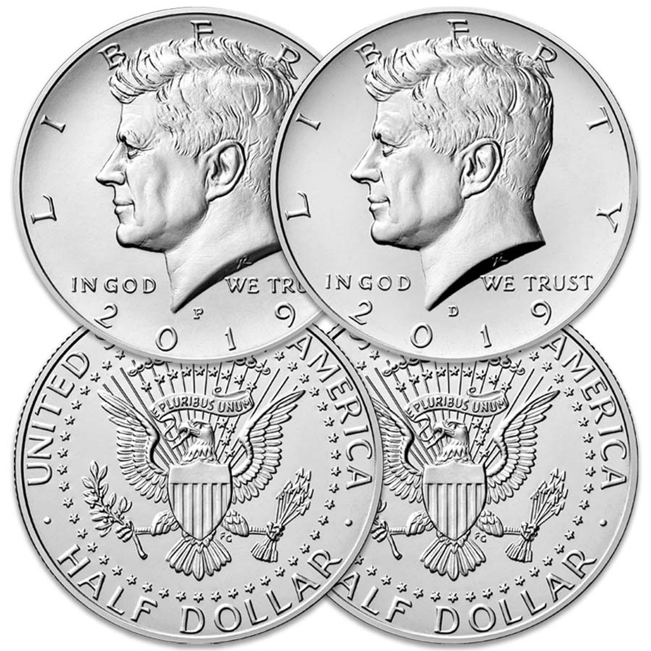 2019 P & D Kennedy Half Dollar Pair Brilliant Uncirculated Image 1