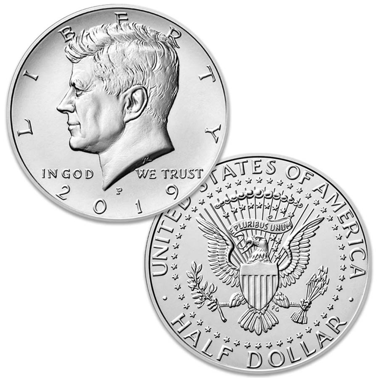 2019-P Kennedy Half Dollar Brilliant Uncirculated Image 1