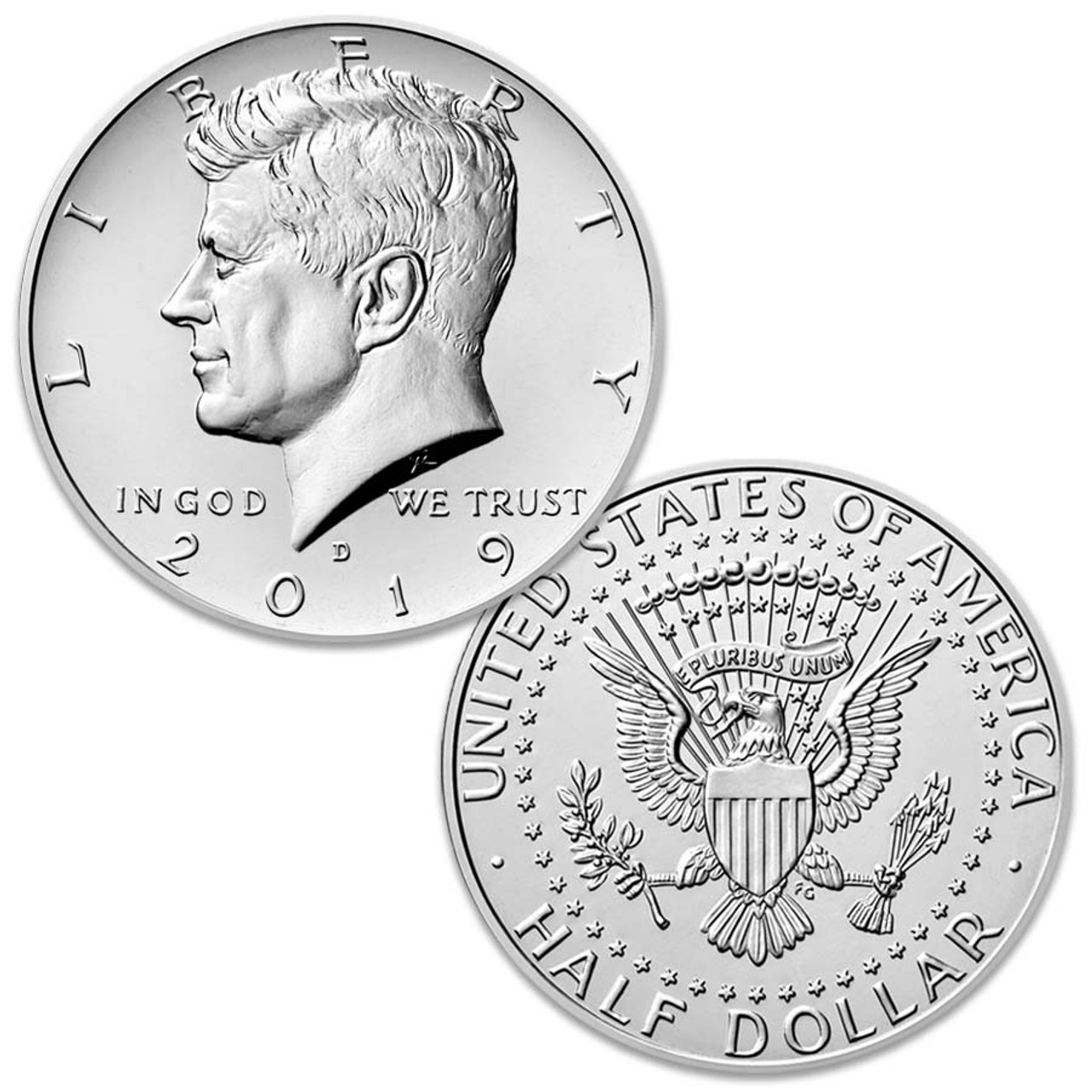 2019-D Kennedy Half Dollar Brilliant Uncirculated Image 1