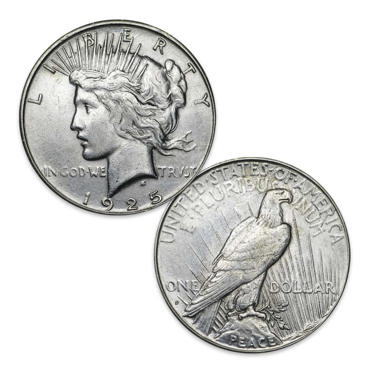 1925-S Peace Silver Dollar Extra Fine