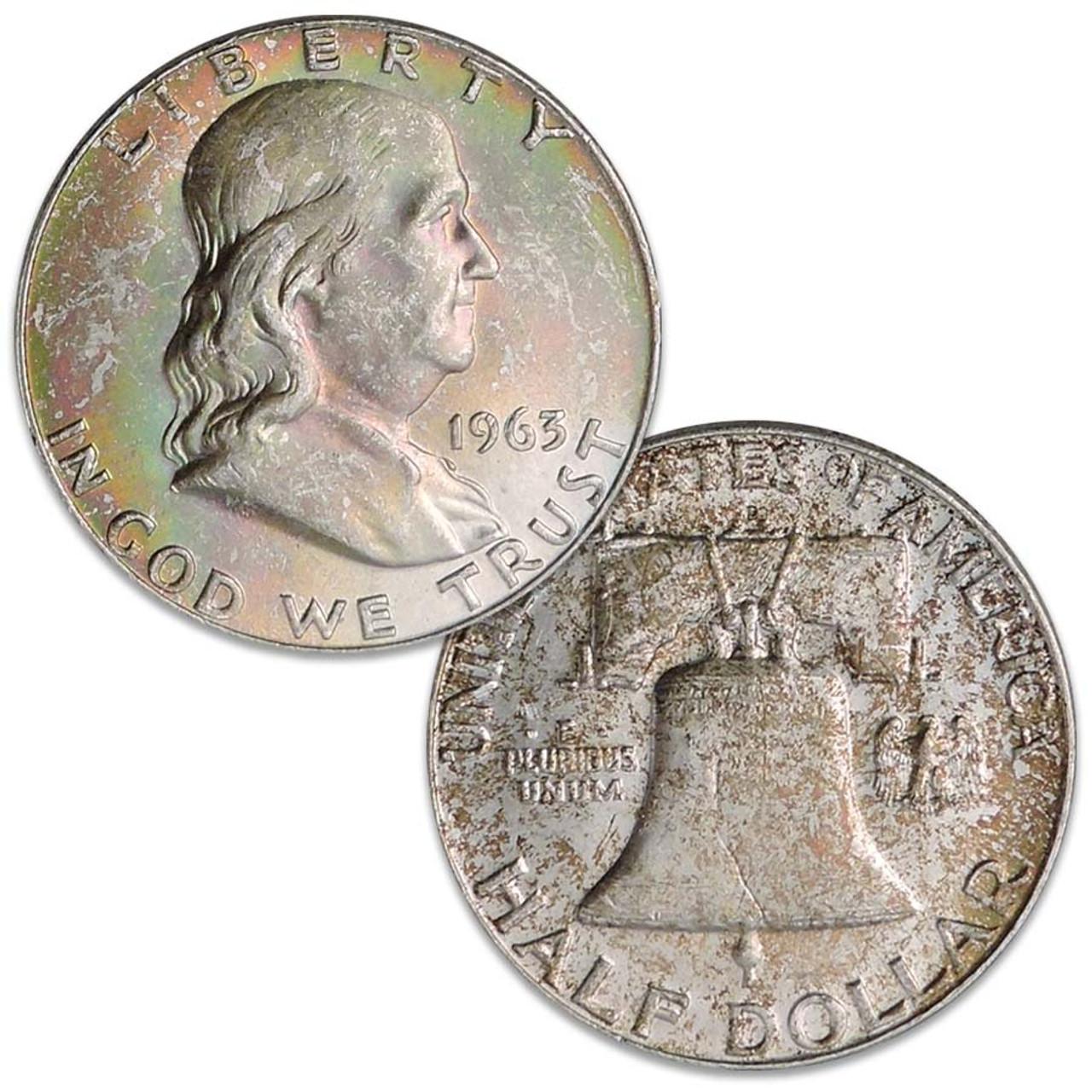 1963-D Franklin Silver Half Dollar from Original Mint Sewn Bag