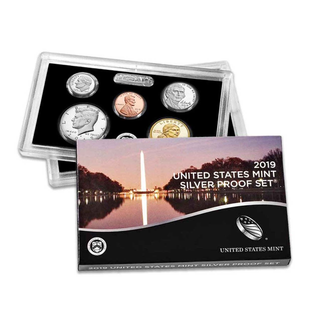 2019 Silver Proof Set 10 Coins Image 1