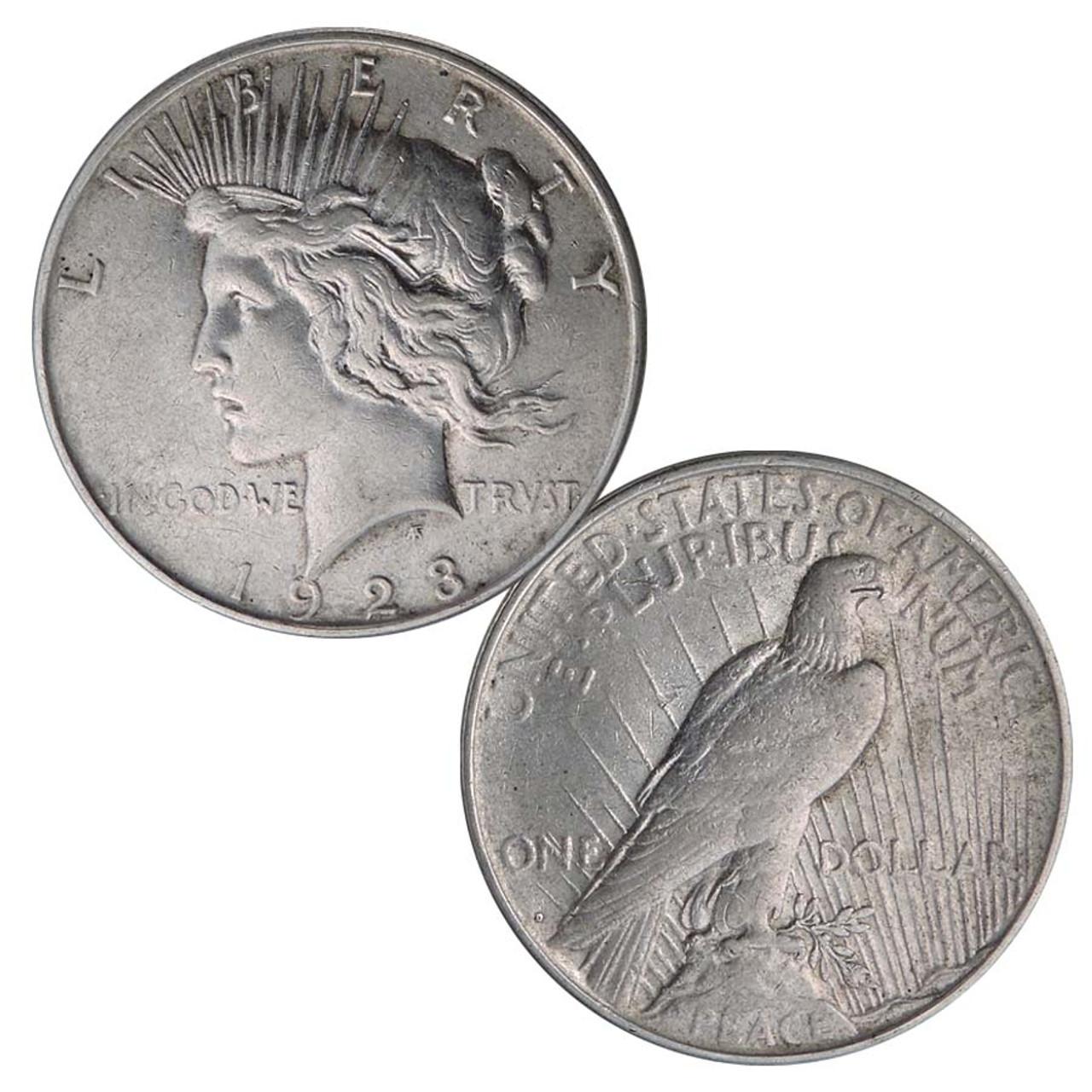 1923-D Peace Silver Dollar Extra Fine Image 1