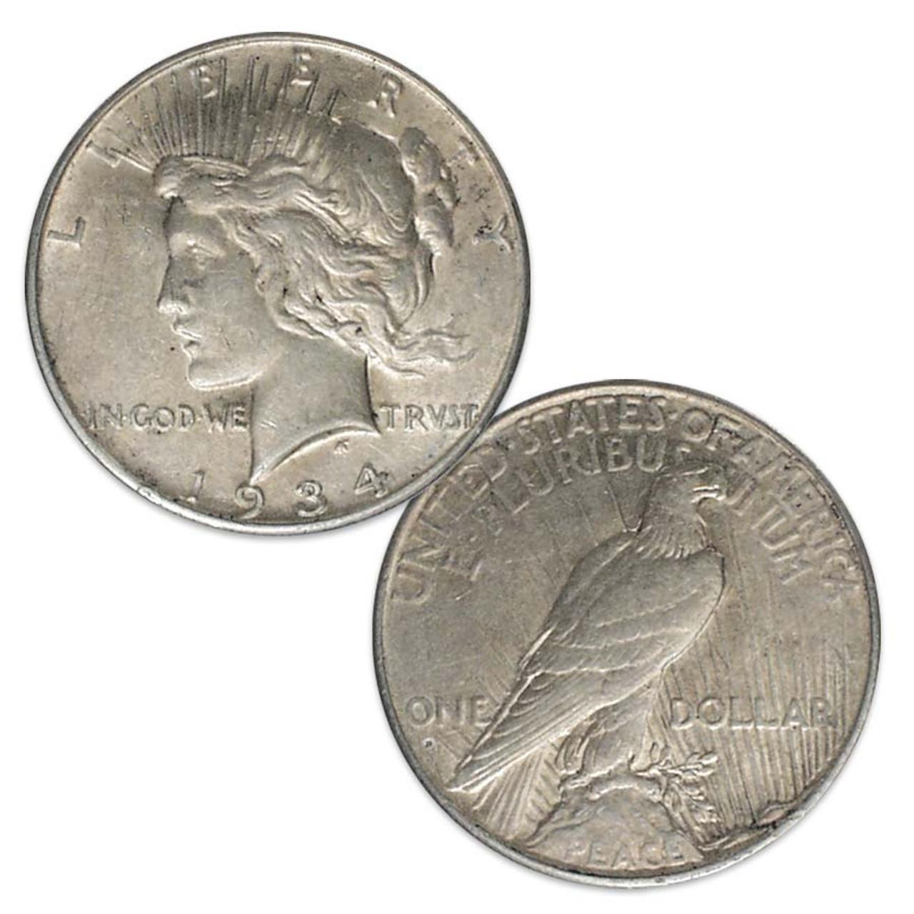 1934-D Peace Silver Dollar Extra Fine Image 1