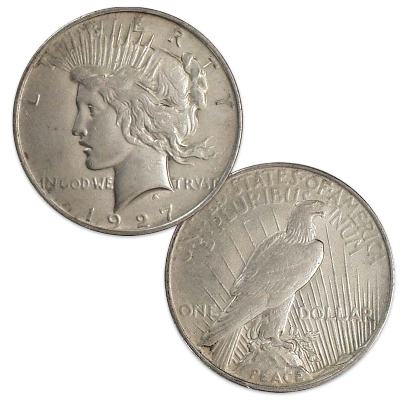 1927-D Peace Silver Dollar Extra Fine Image 1