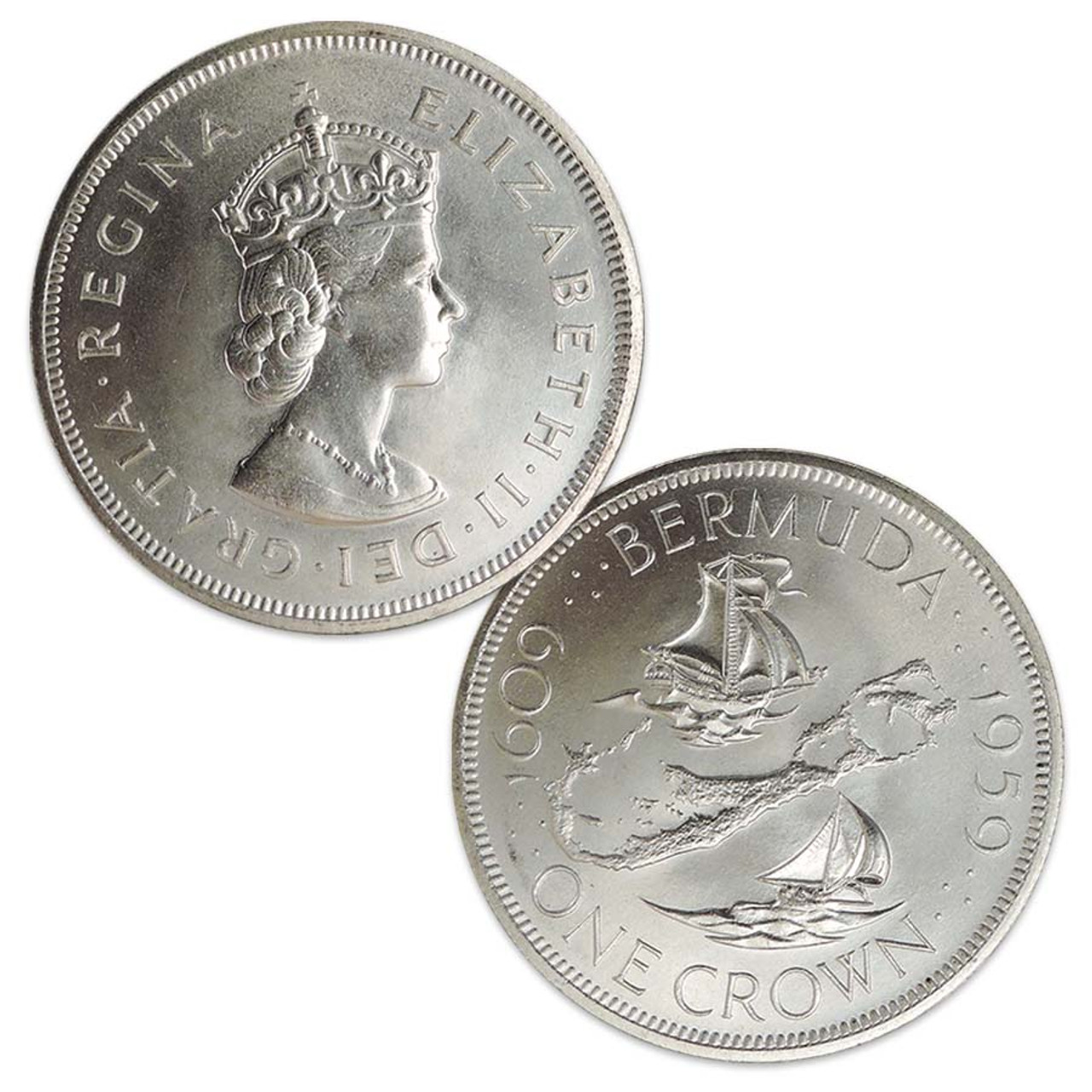 Bermuda 1959 Crown Brilliant Uncirculated Image 1
