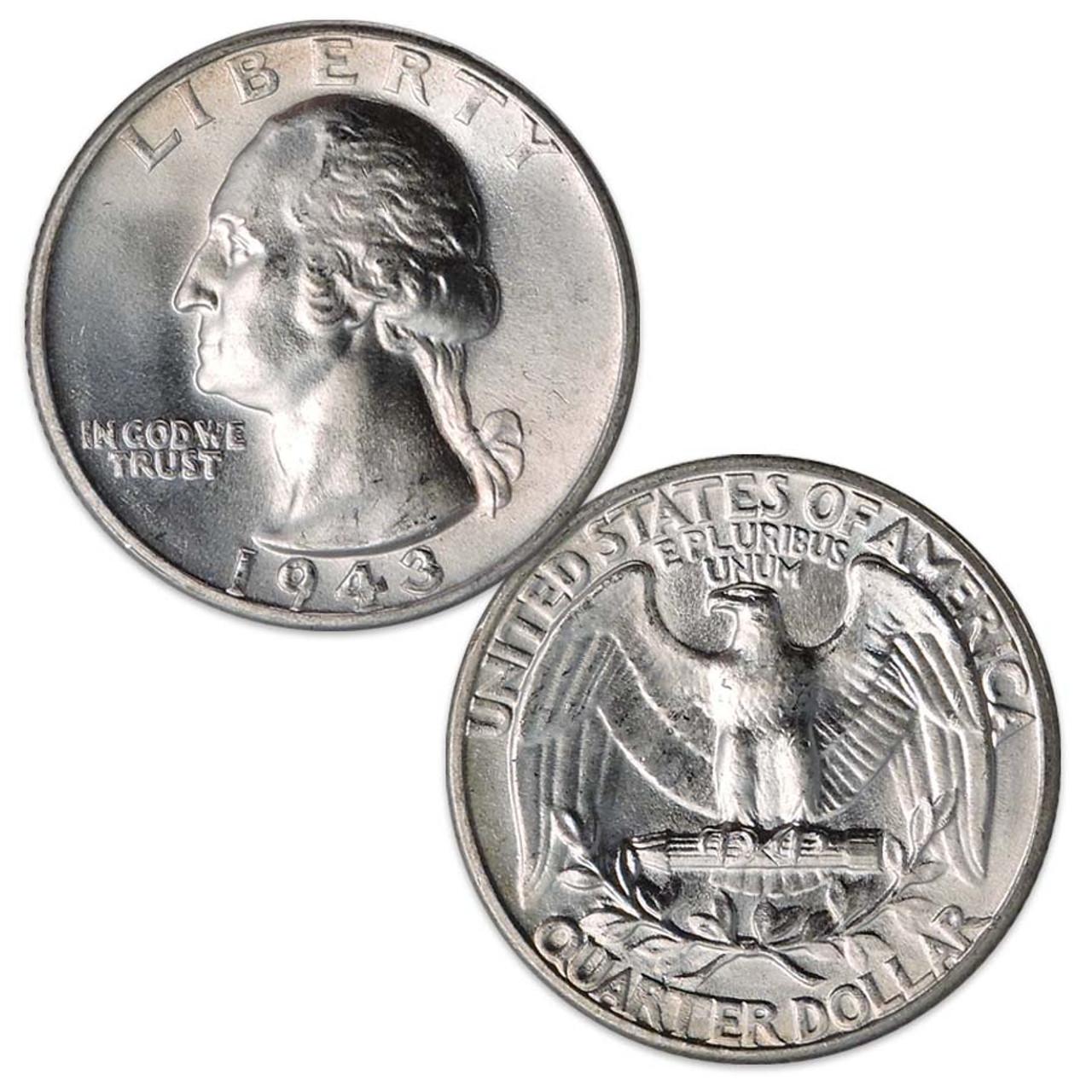 1943-P Washington Silver Quarter Brilliant Uncirculated Image 1