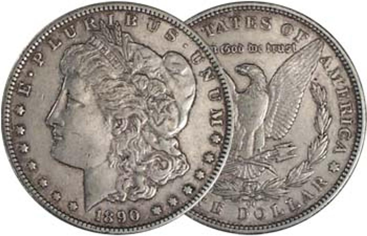 1890-CC Morgan Silver Dollar Extra Fine Image 1
