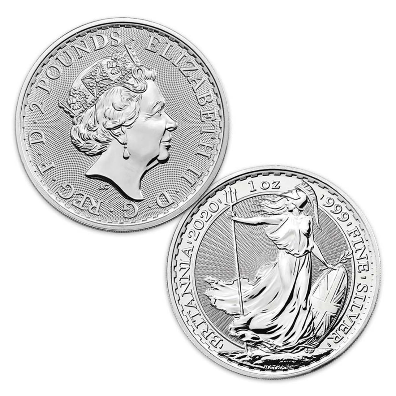 Great Britain 2020 Britannia 1-Oz. Silver Brilliant Uncirculated Image 1