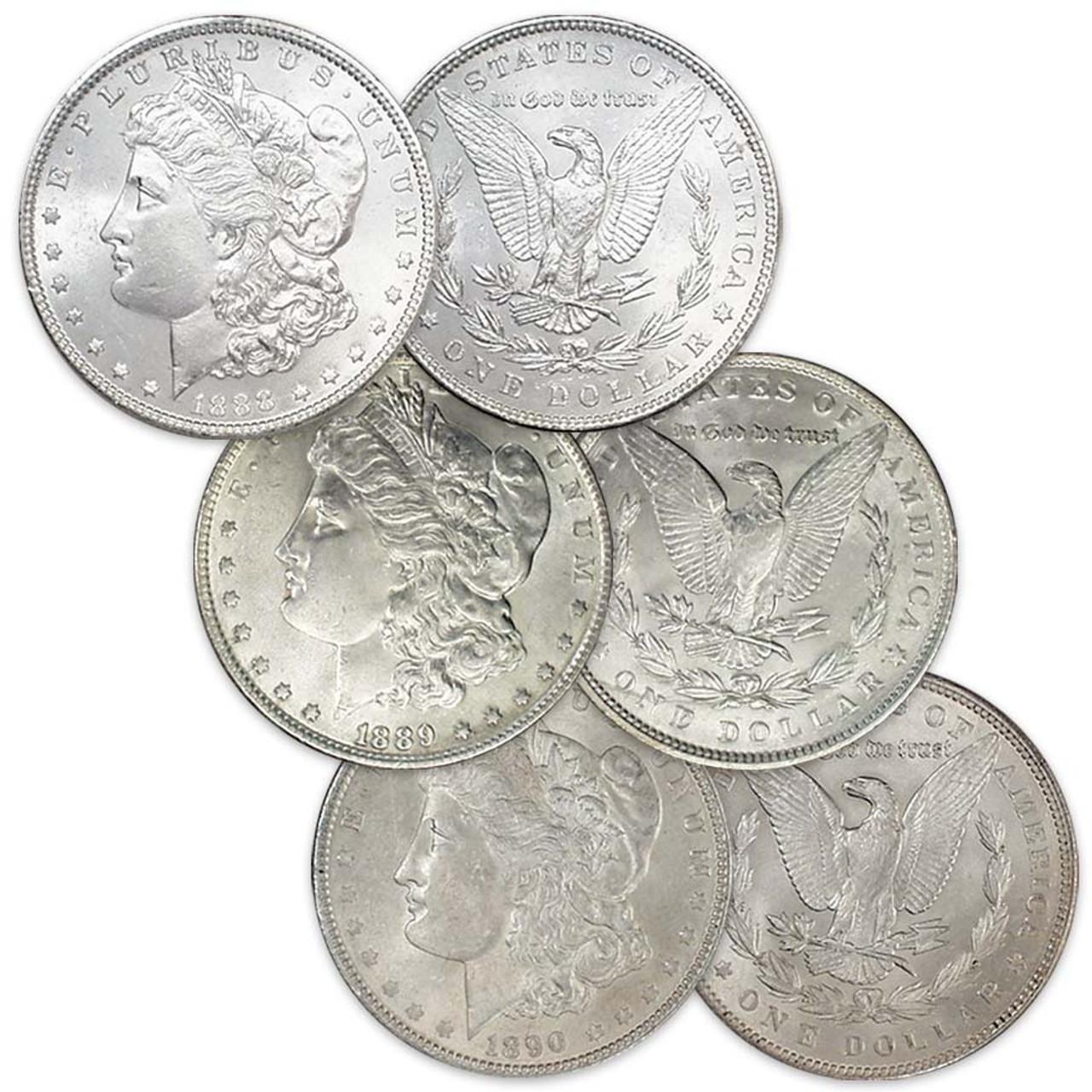 BU 1890-P Morgan Silver Dollar Brilliant Uncirculated