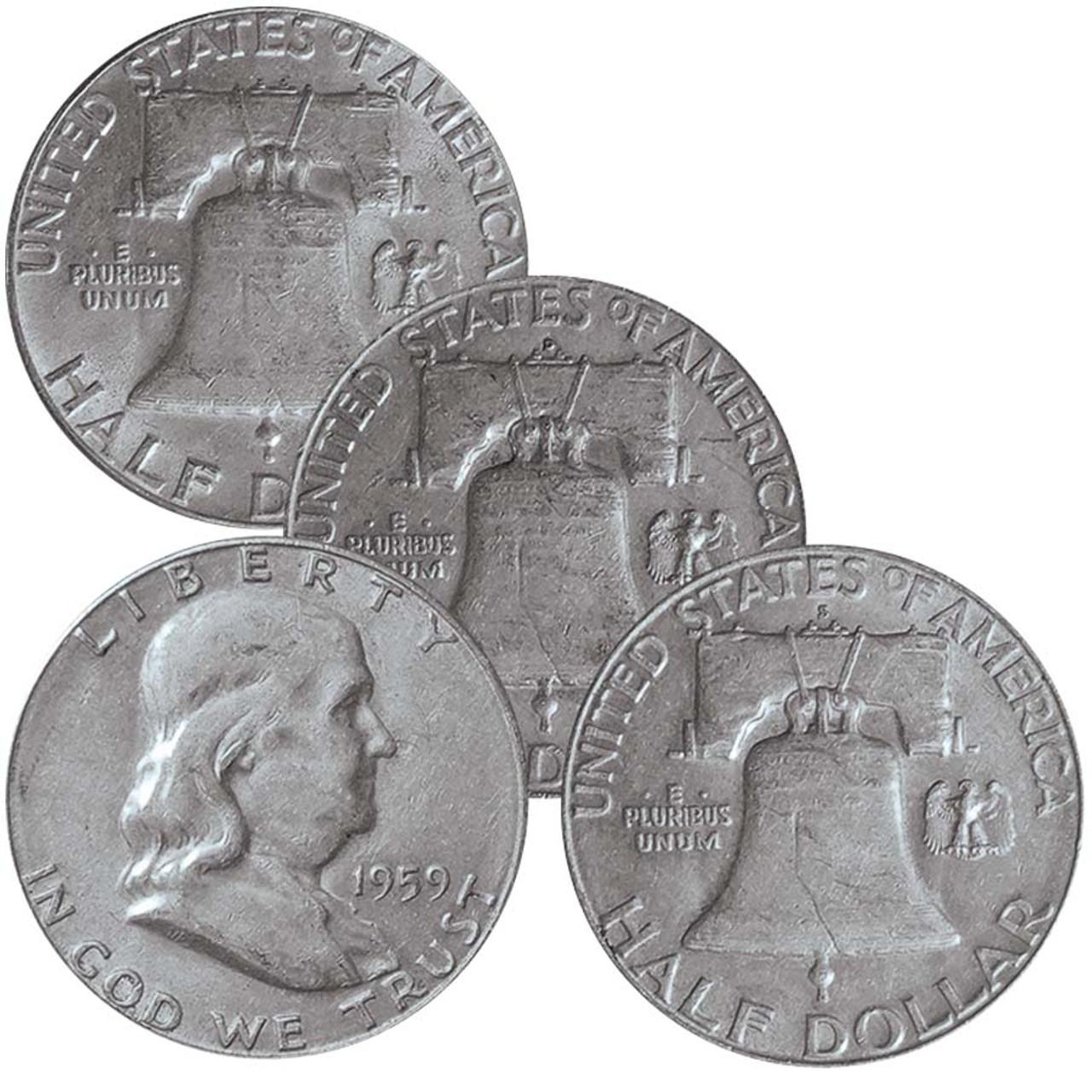 U.S. Franklin Half Dollars 1951PDS Very Fine