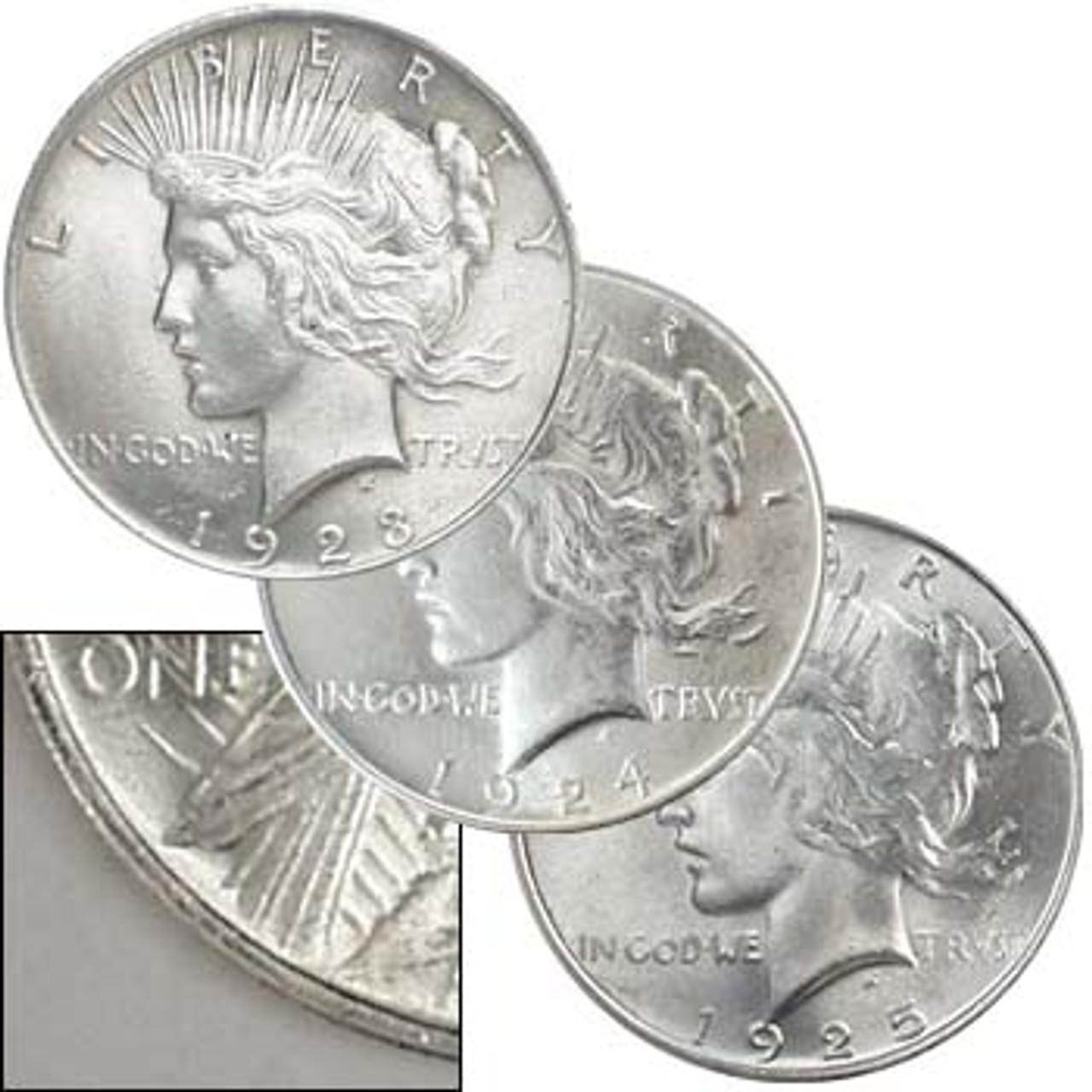 1924 P Peace Silver Dollar $1 Brilliant Uncirculated