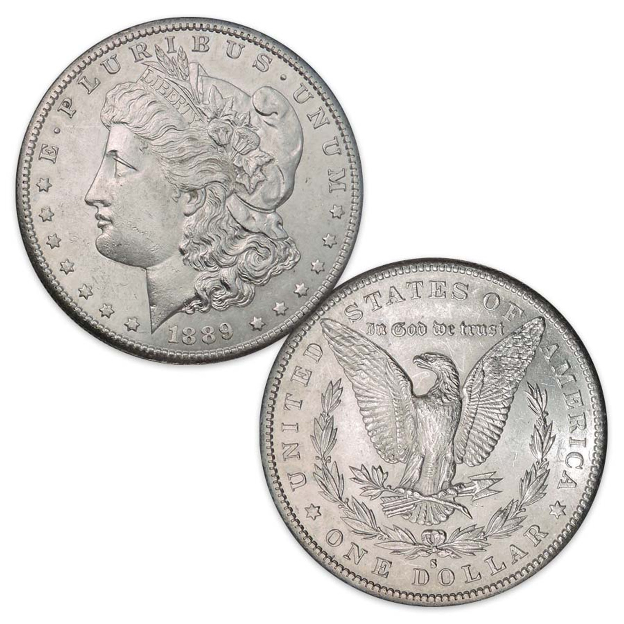 1889-S Morgan Silver Dollar About Uncirculated Image 1