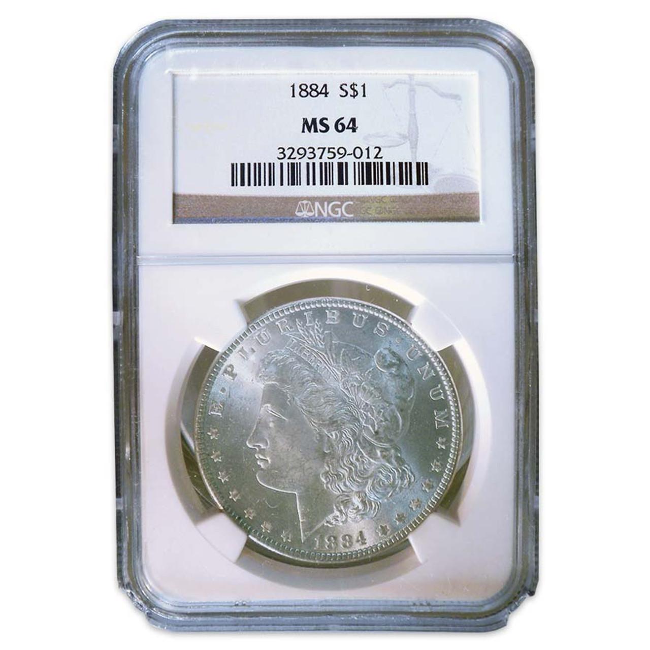 1884-P Morgan Silver Dollar Certified MS-64