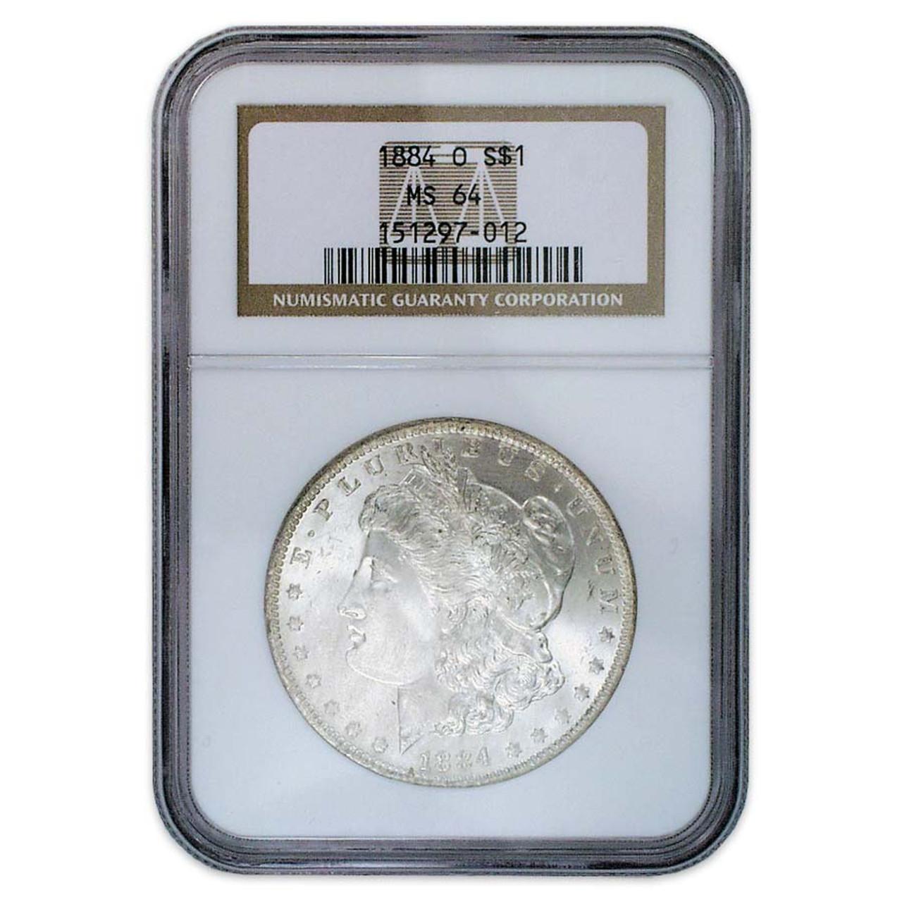 1884-O Morgan Silver Dollar Certified MS-64 Image 1