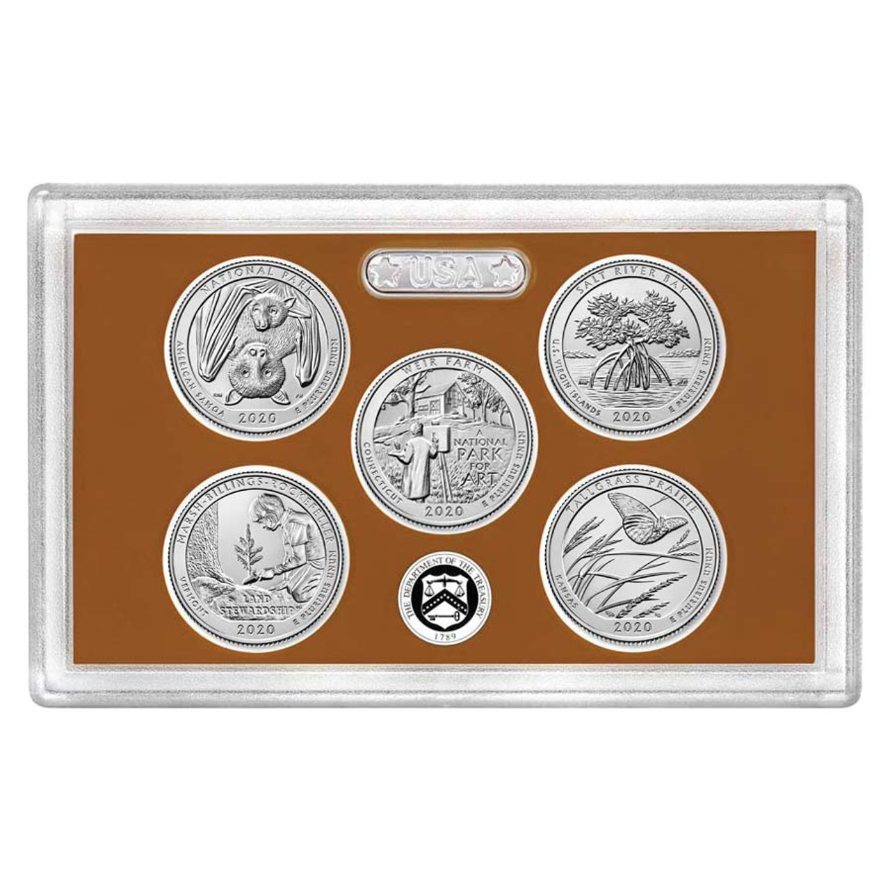 2020 National Parks Quarter Proof Set 5 Coins Image 1