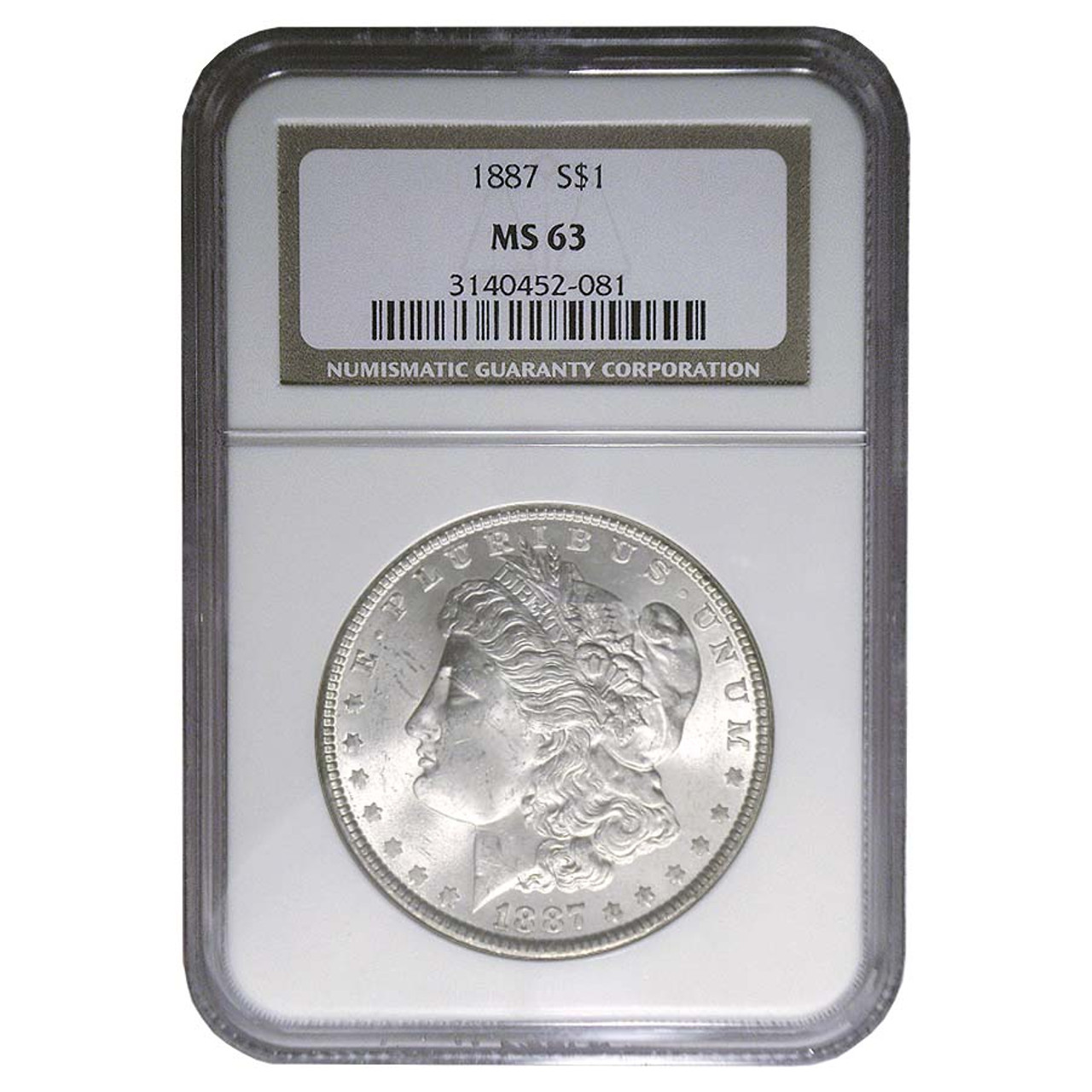 1887-P Morgan Silver Dollar Certified MS-63 Image 1
