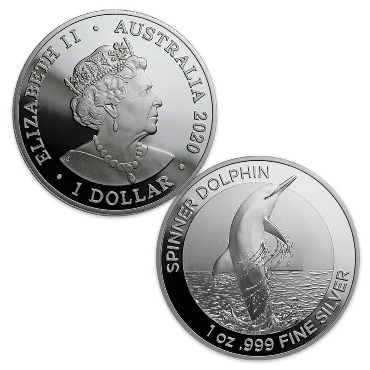 Australia 2020 Dolphin Silver 1-Oz. Dollar Brilliant Uncirculated
