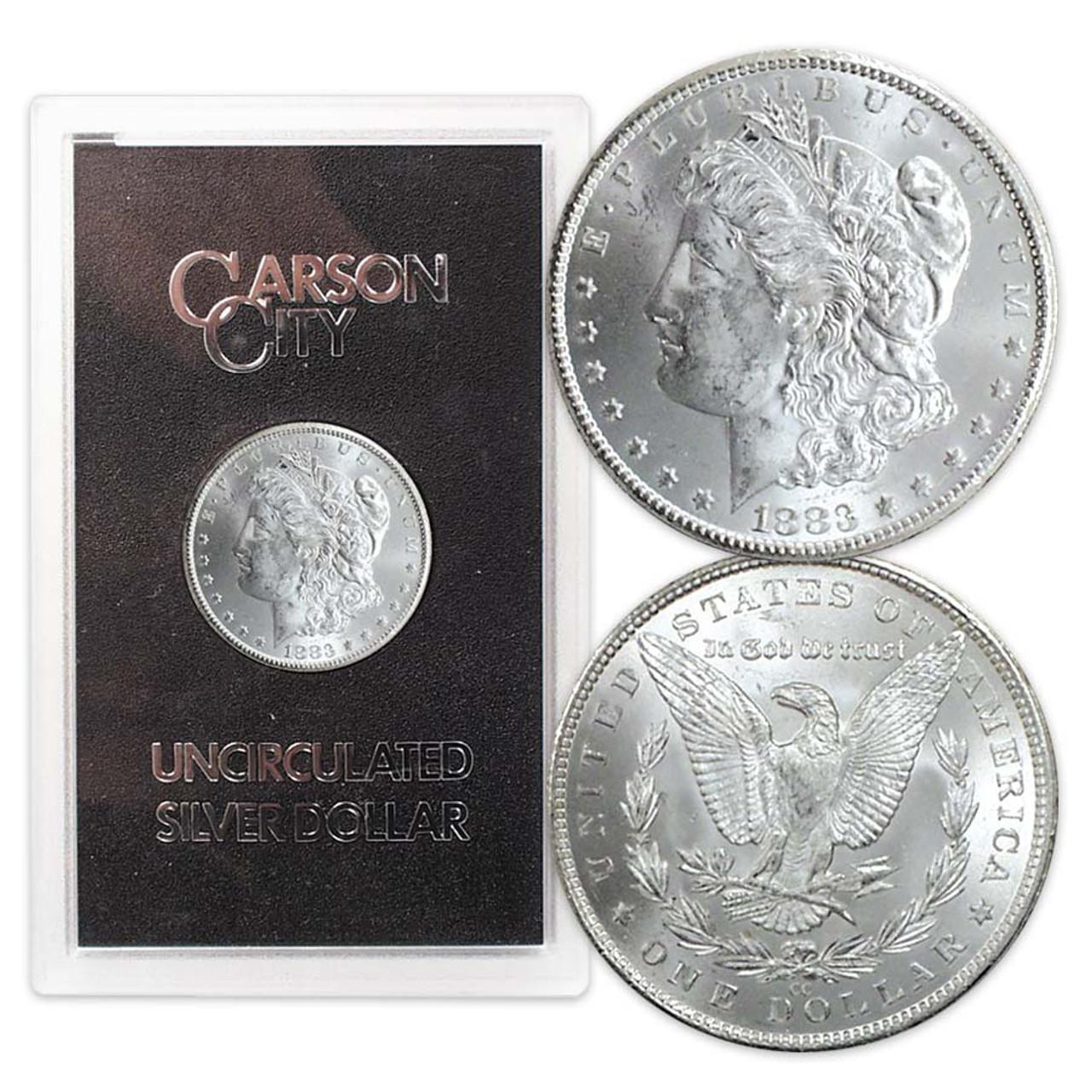 1883-CC Morgan Silver Dollar in GSA Case Brilliant Uncirculated Image 1
