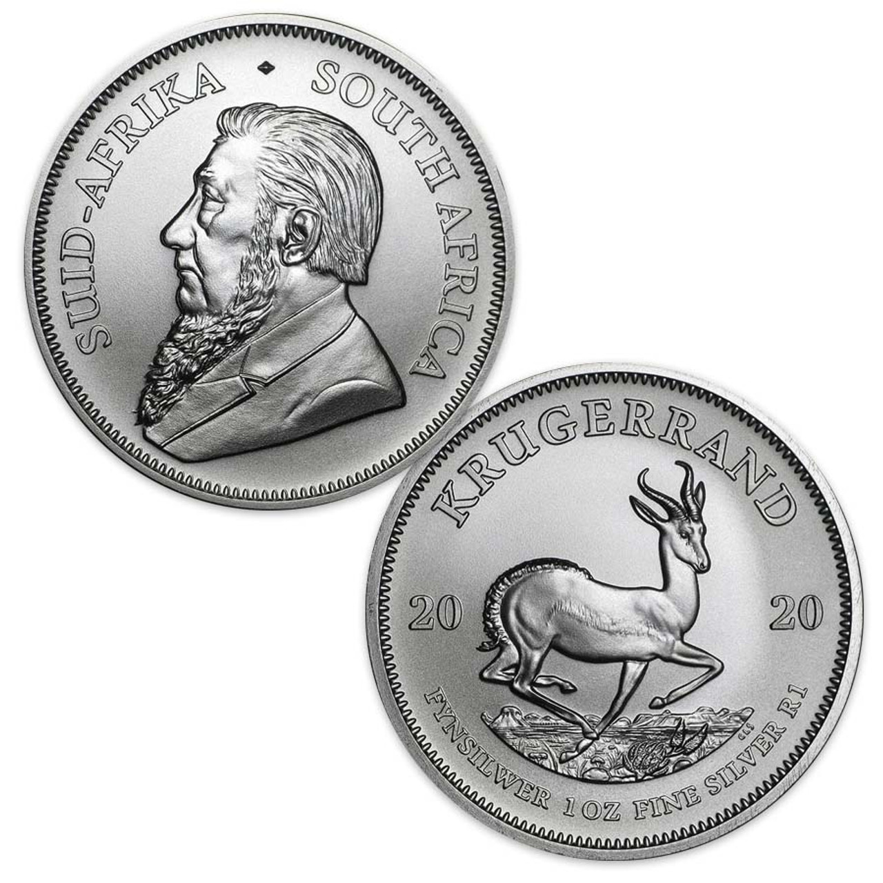 South Africa 2020 Krugerrand 1-Oz. Silver Brilliant Uncirculated Image 1