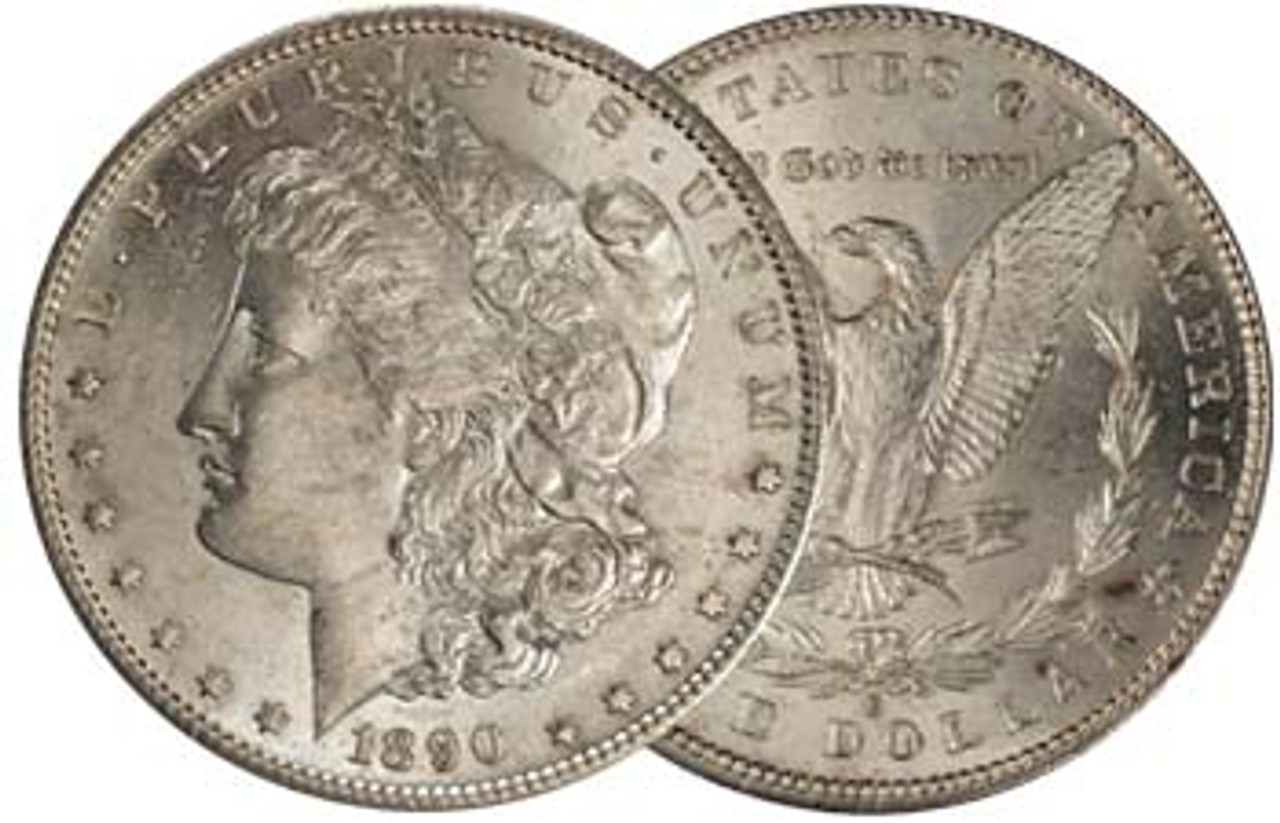 1890-S Morgan Silver Dollar Brilliant Uncirculated Image 1