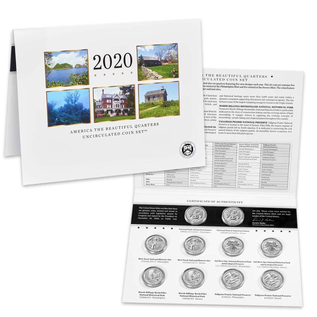 2020 National Parks Quarter Mint Set 10 Coins Image 1