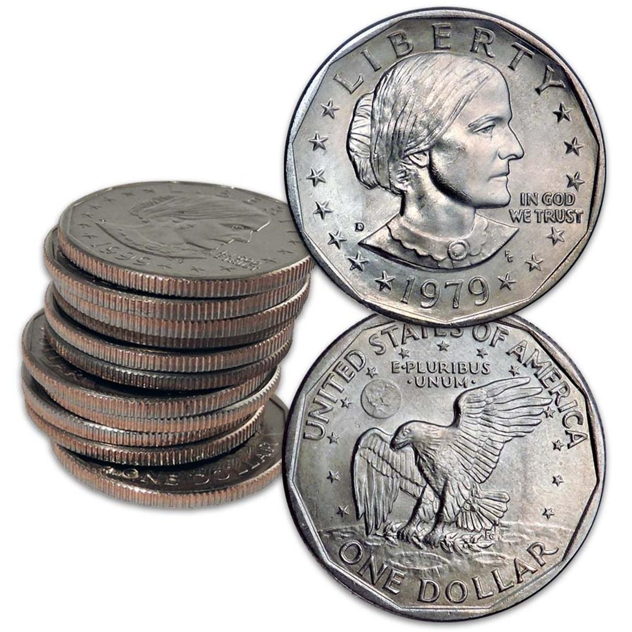 1999 P and D Brilliant Uncirculated  Susan B Anthony SBA Dollar set BU