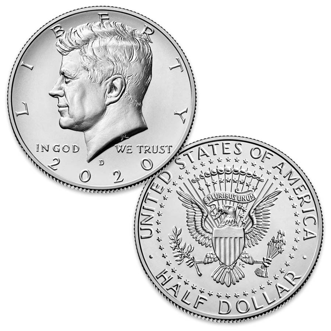 2020-D Kennedy Half Dollar Brilliant Uncirculated Image 1