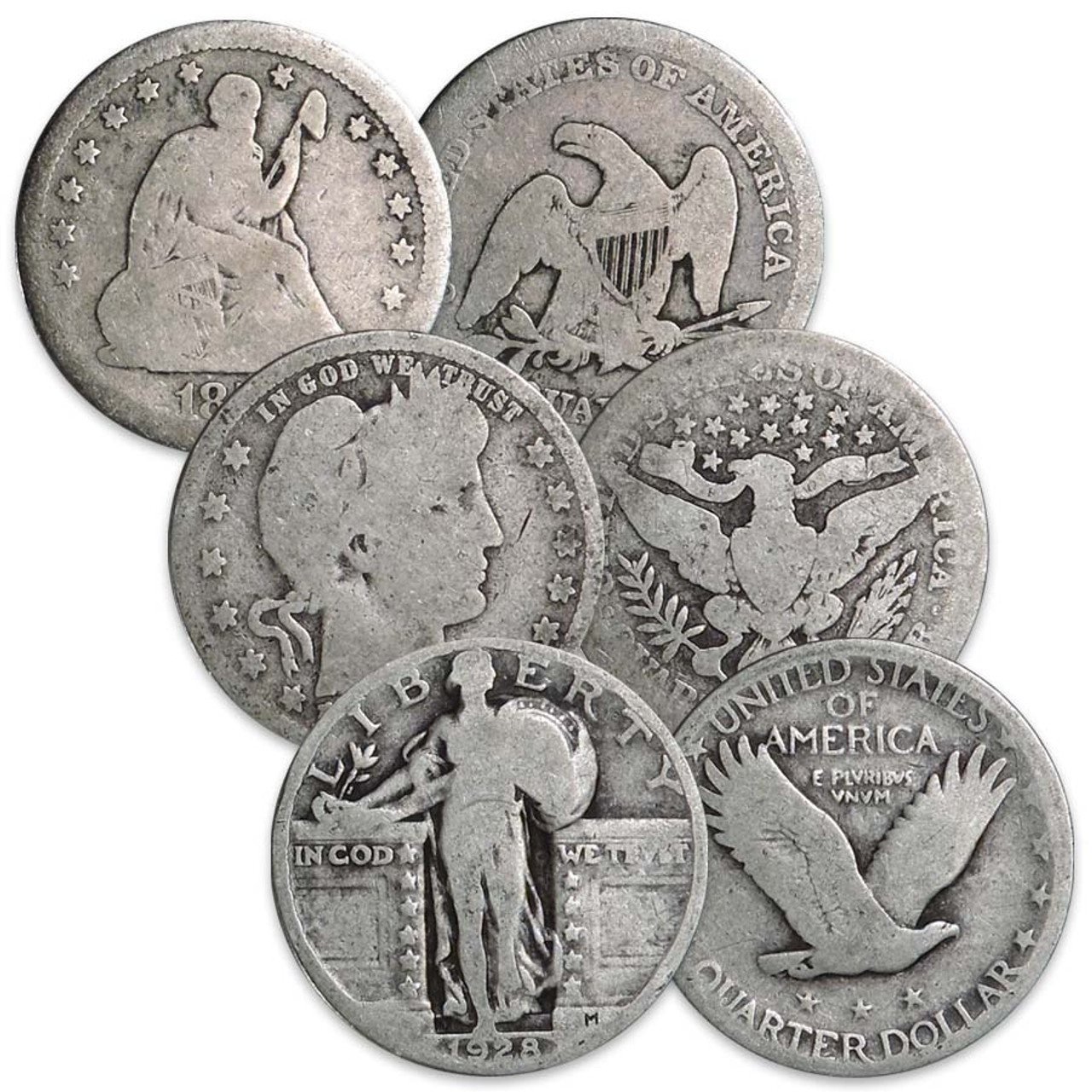 Classic Silver Quarter Type Set 3-Coin Image 1