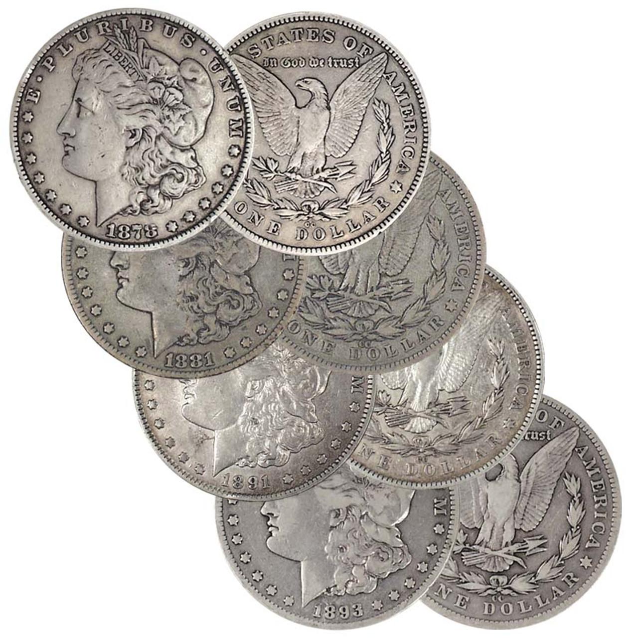 1878-CC, 1881-CC, 1891-CC & 1893-CC Morgan Silver Dollar Collection Very Fine