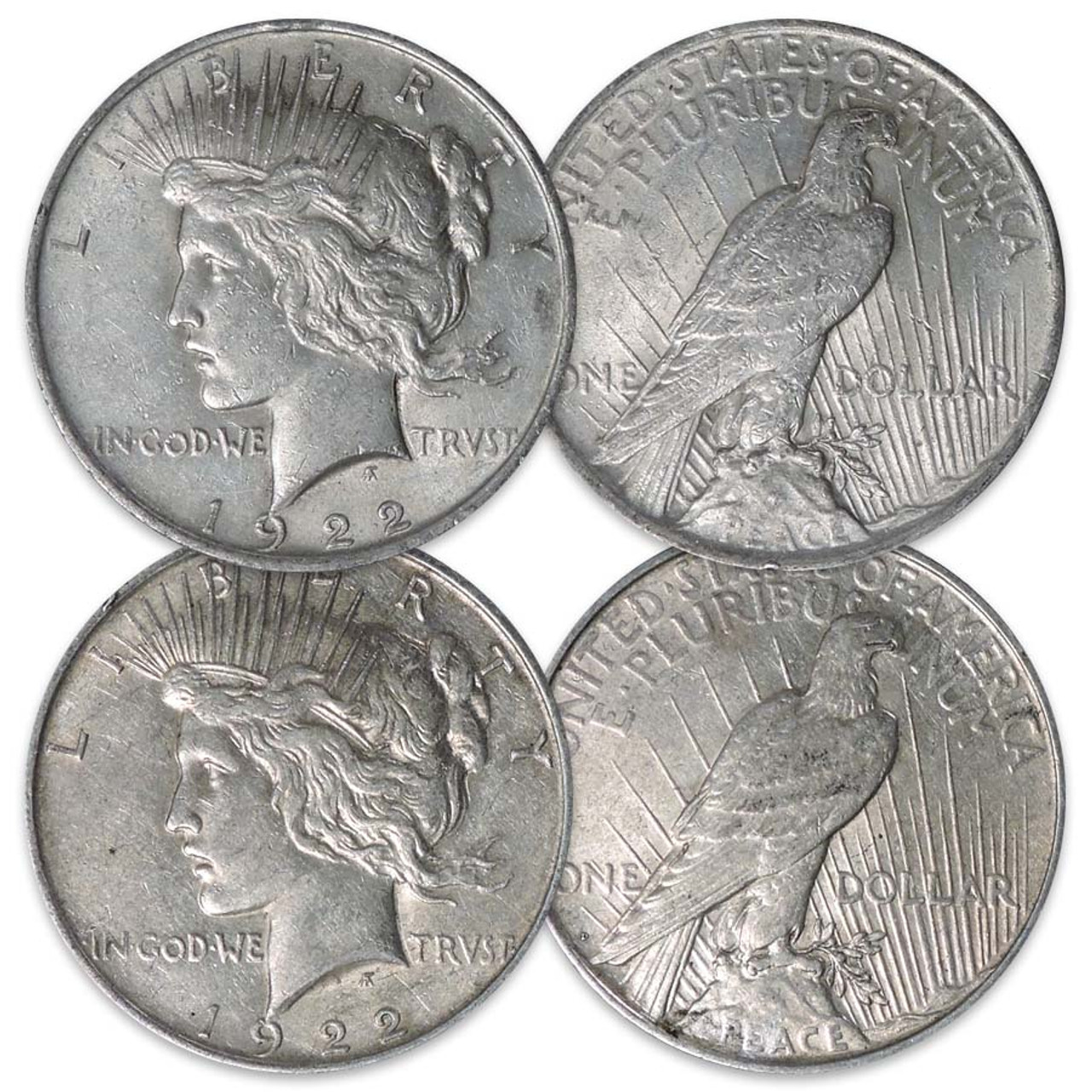 1922-P & D Peace Silver Dollar Pair Very Fine