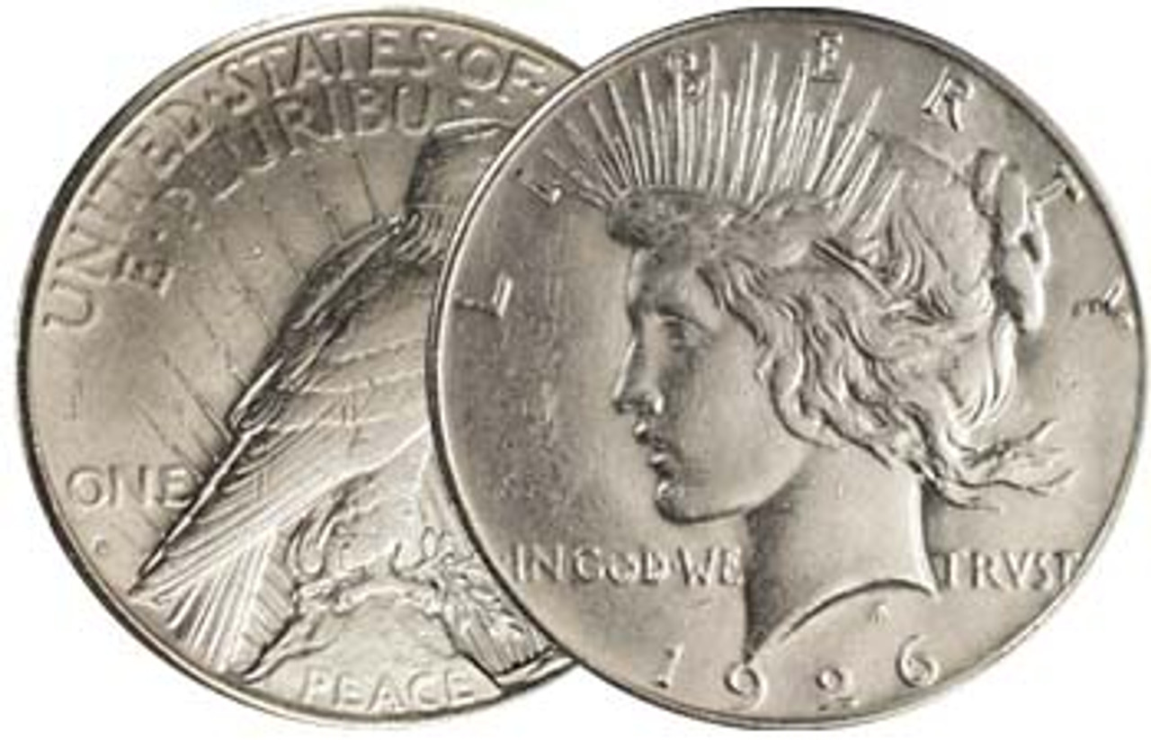 1926-S Peace Silver Dollar About Uncirculated Image 1
