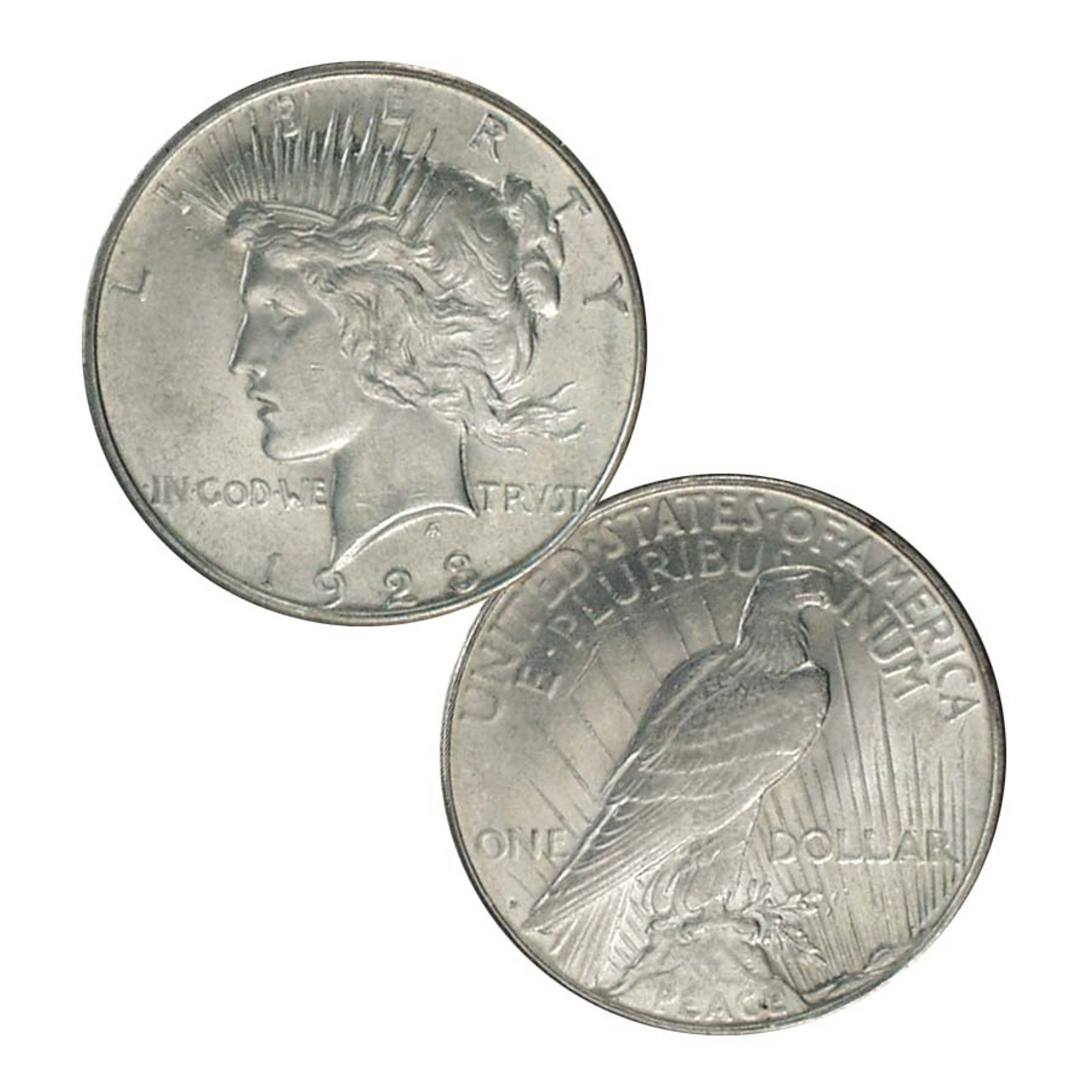 1923-D Peace Silver Dollar About Uncirculated