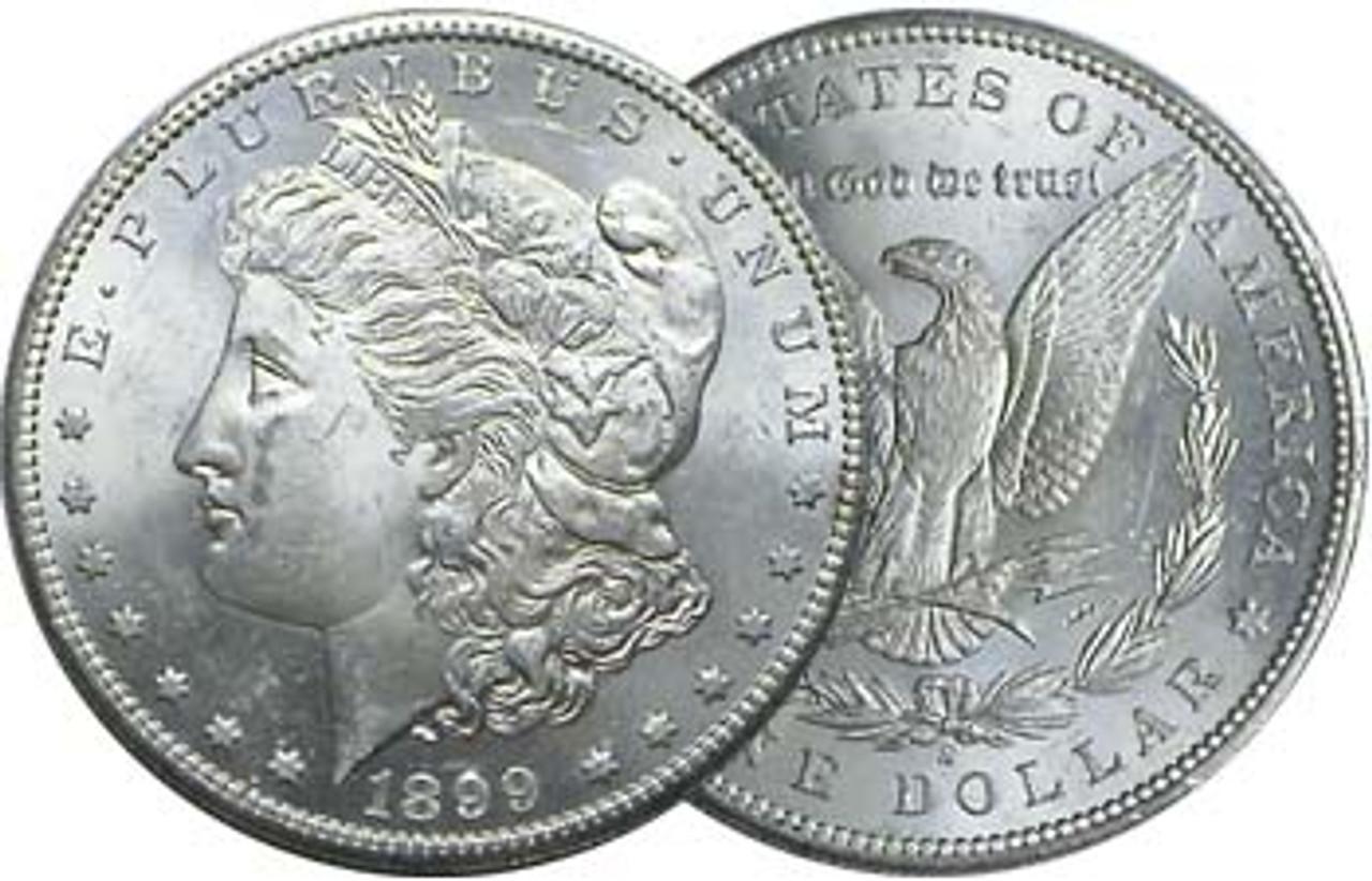1899-S Morgan Silver Dollar Brilliant Uncirculated Image 1