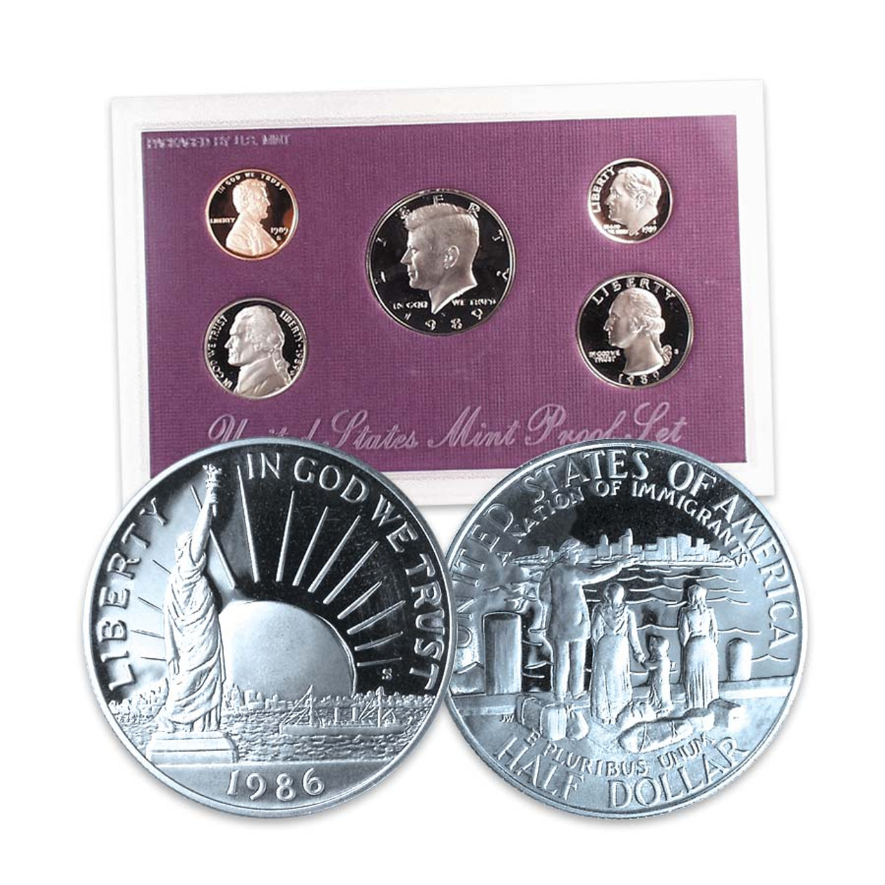 FREE Proof Set with a Statue of Liberty Half Dollar Proof Image 1