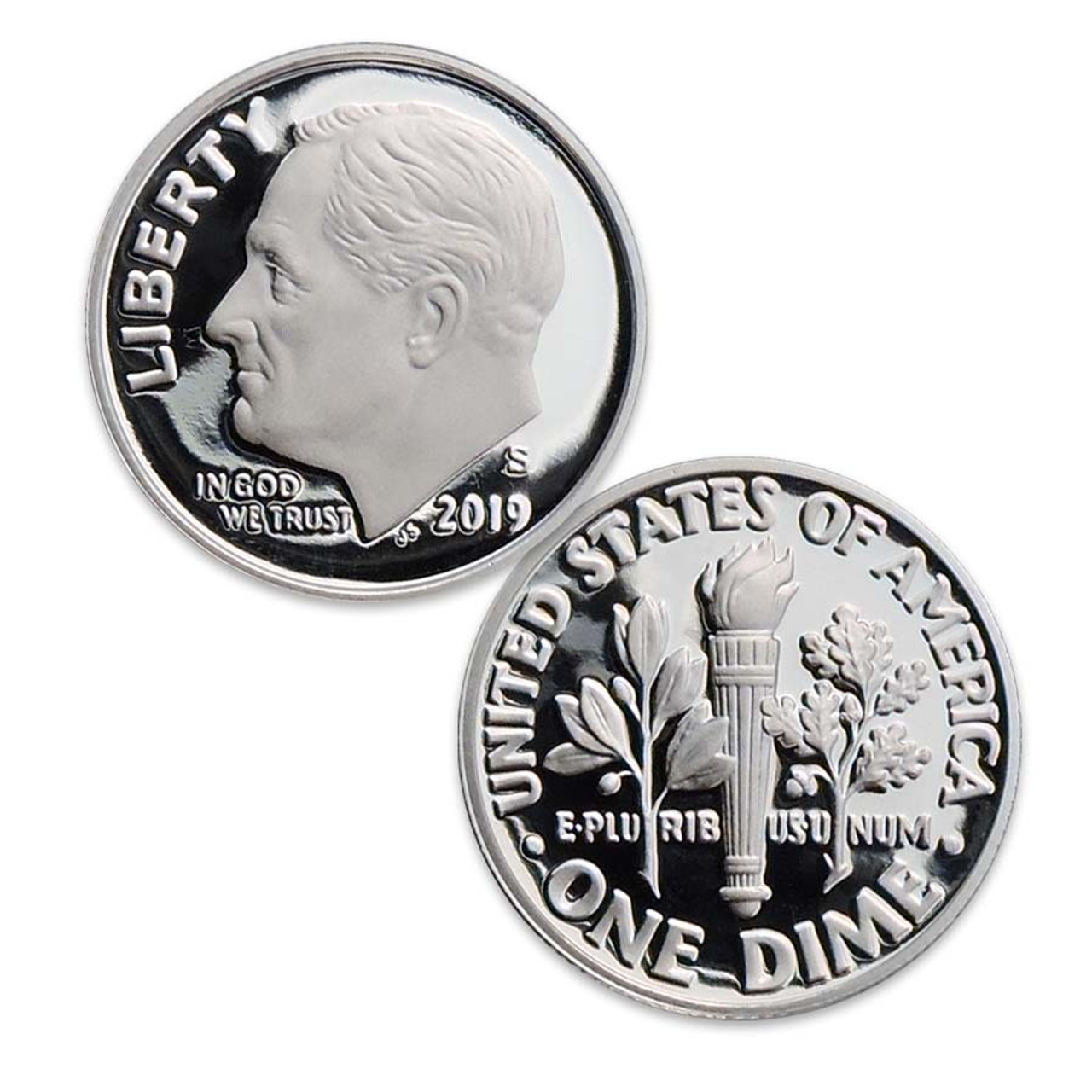 2019-S Roosevelt Silver Dime Proof Image 1