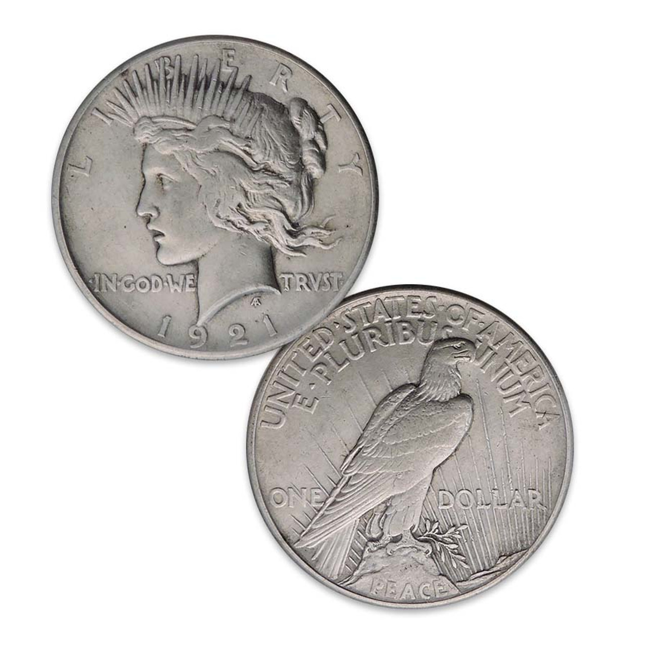 1921-P Peace Silver Dollar Extra Fine Image 1