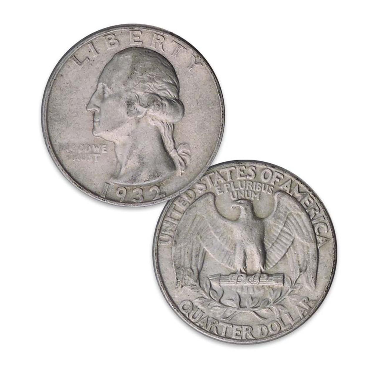 1932 Washington Silver Quarter Extra Fine Image 1