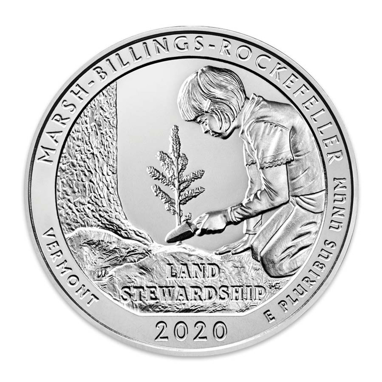 2020-D Marsh-Billings-Rockefeller National Historical Park Quarter Brilliant Uncirculated Image 1