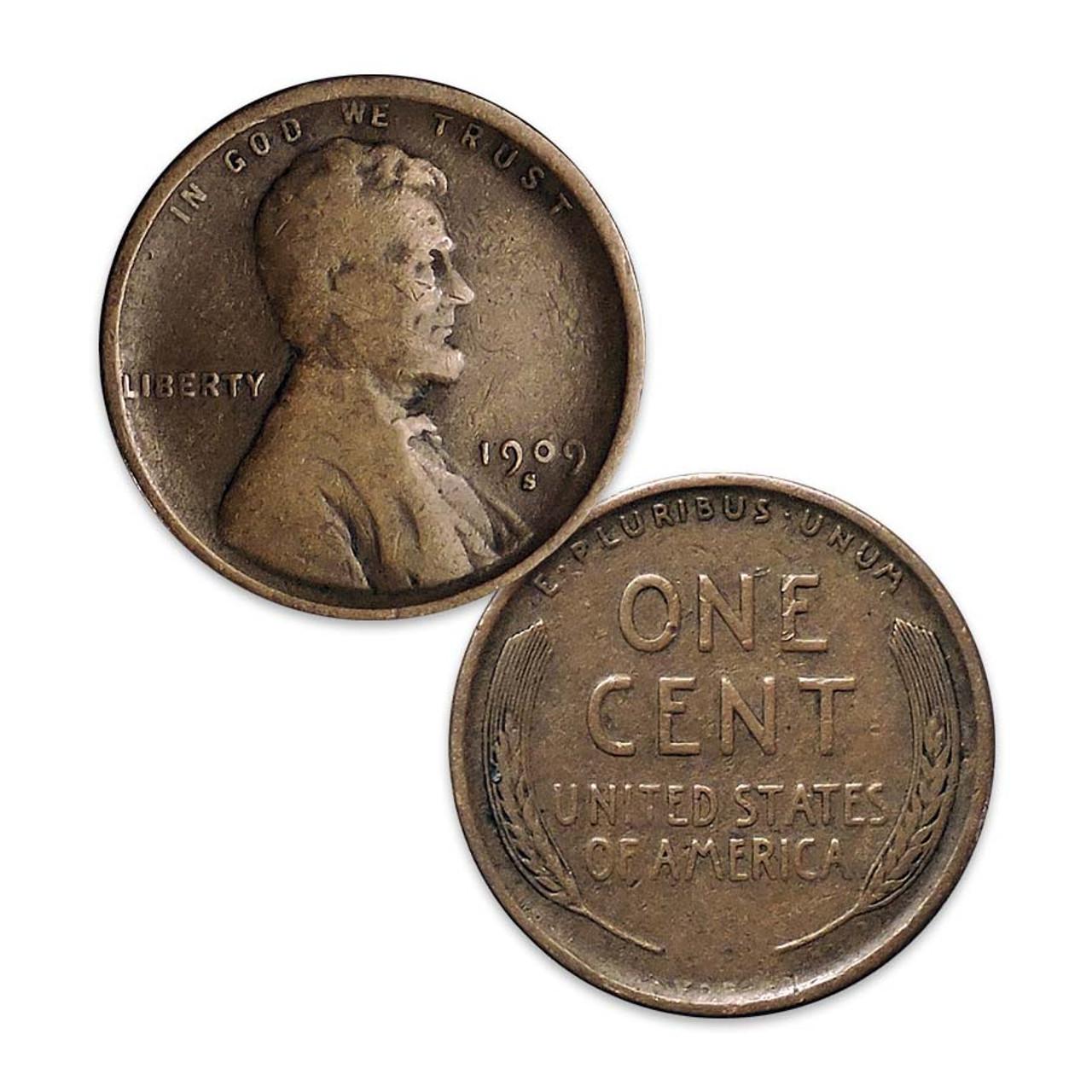 1909-S VDB Lincoln Cent Fine Image 1