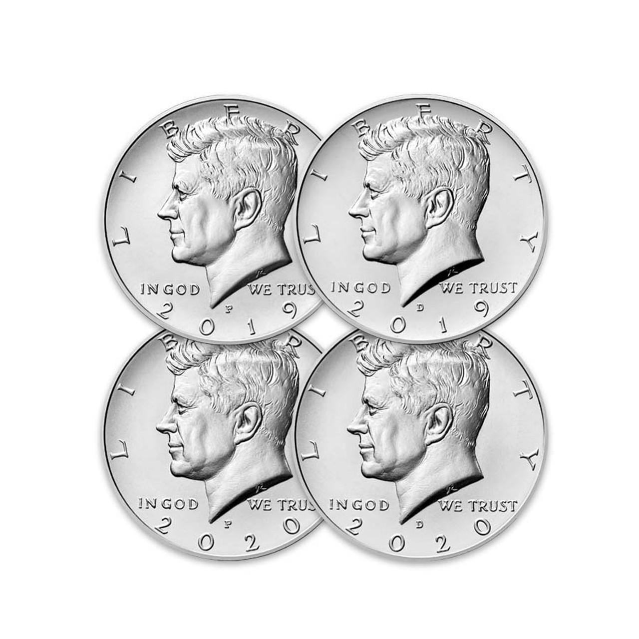 2020-P & D Kennedy Half Dollar with FREE 2019-P & D Kennedy Half Dollar Brilliant Uncirculated