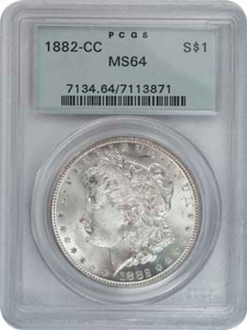 1882-CC Morgan Silver Dollar Certified MS-64